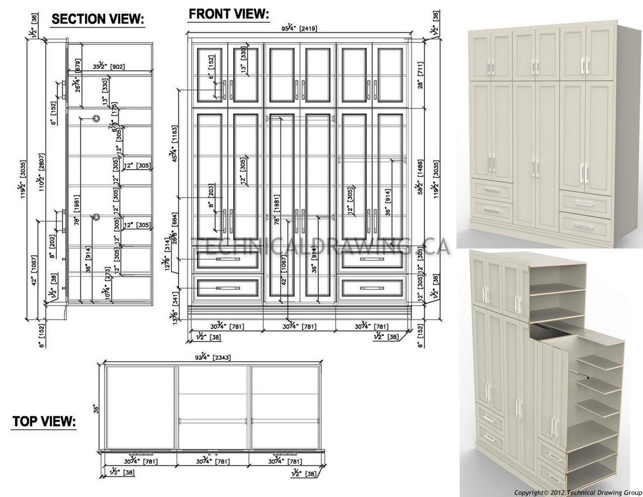 Millwork shop drawings Canada | title